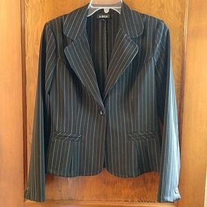EUC black and white pinstripe blazer